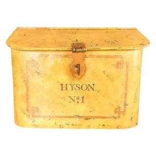 English Turn of the Century Tin Bin