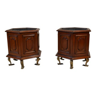 Pair Antiques Mahogany Jardinieres For Sale