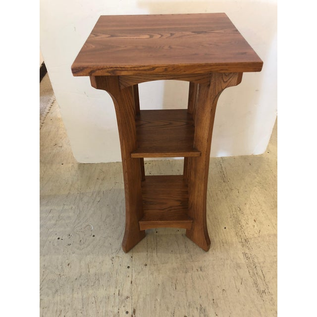 1950s 1950s Arts & Crafts Mission Style Side Table For Sale - Image 5 of 9