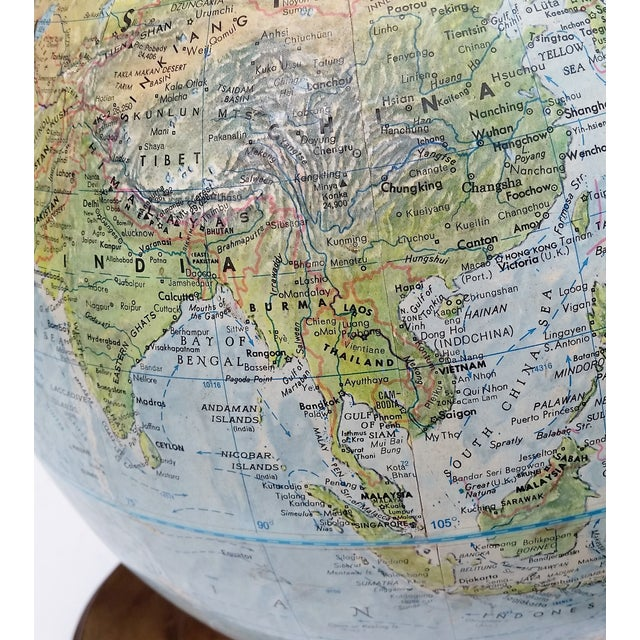 Vintage World Book Globe by Replogle on Stand - Image 6 of 10