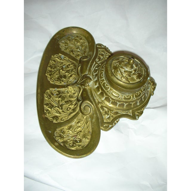 Ornate Brass Inkwell - Image 3 of 5