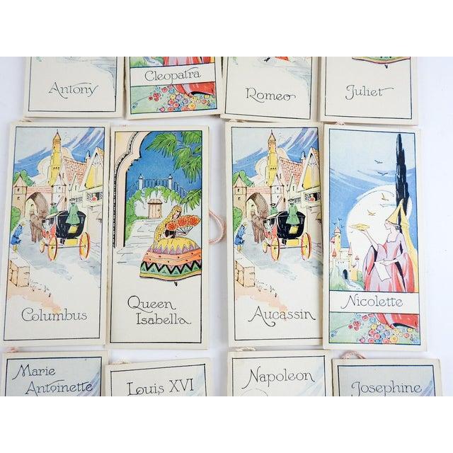 Art Nouveau Box Set 1920's Vintage Romance Series Bridge Tally Cards For Sale - Image 3 of 7