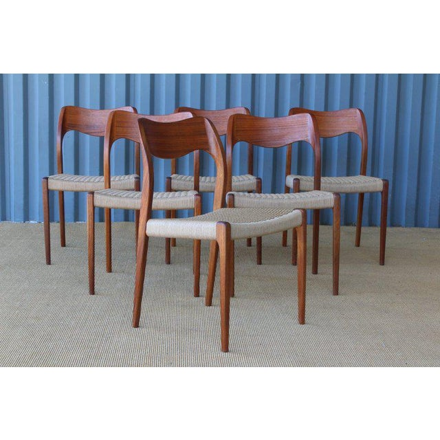 Set of Six Dining Chairs by Niels Moller, Denmark, 1960s For Sale - Image 9 of 13