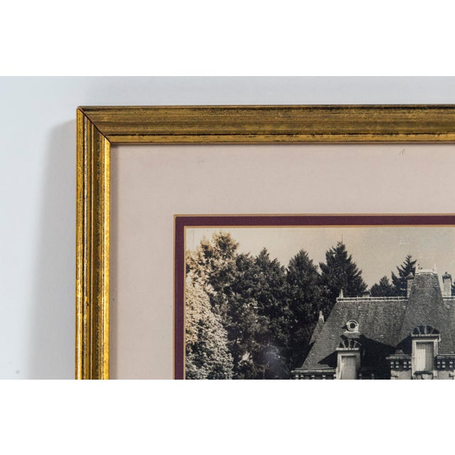 Vintage Framed Black and White Photograph, 'Le Chateau', France, Circa 1950's For Sale - Image 4 of 6