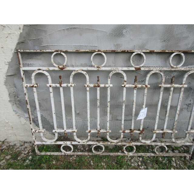 Antique Victorian Iron Gate or Garden Fence Element For Sale - Image 5 of 6
