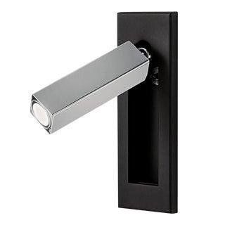 Led Satin Black With Polished Chrome Docking Wall Light For Sale