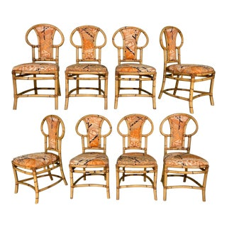 Rattan Bentwood Dining Chairs by Henry Olko, Set of 8 For Sale