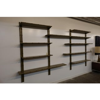 1960's Mid Century Modern Faux Bamboo Wall Unit Preview
