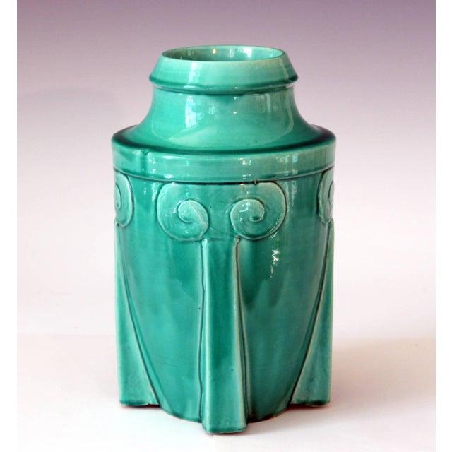 Art Deco Awaji Pottery Japanese Art Deco Rocket Form Vase For Sale - Image 3 of 11