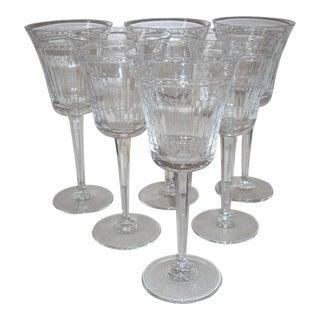 1980s Wedgwood Crystal Goblets - Set of 6 For Sale