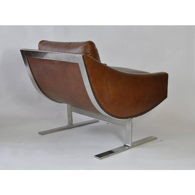 Pair of Kipp Stewart Leather Lounge Chairs For Sale In Boston - Image 6 of 6