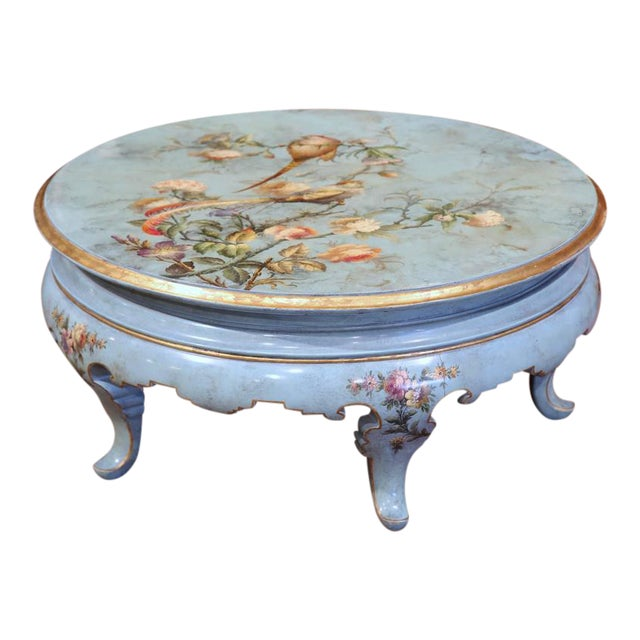 Early 20th Century French Hand Painted Round Coffee Table Chairish