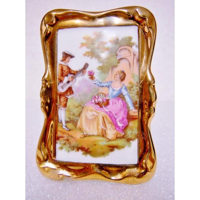 Rp Limoges Gold Framed Fragonard Picture Chairish
