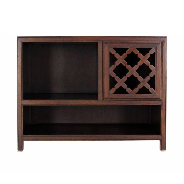Baker Walnut End Table Stand Accent Side Table. For Sale In New York - Image 6 of 7