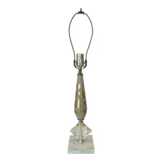 Mid 20th Century Vintage Marble Base Table Lamp For Sale