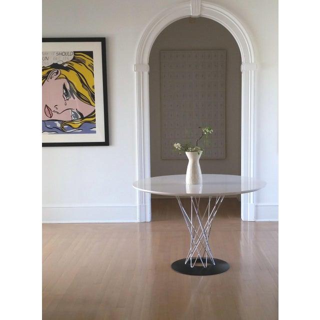 White Ceramic Vase For Sale - Image 4 of 8