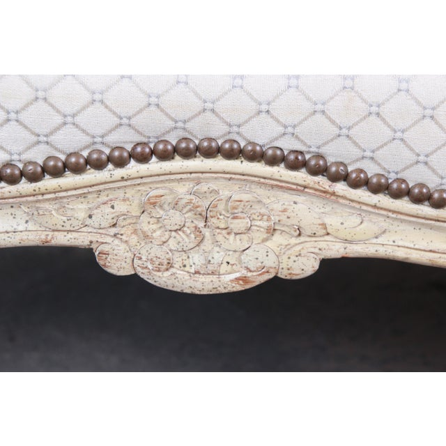 Baker Furniture French Louis XV Style Carved Loveseat For Sale - Image 9 of 12
