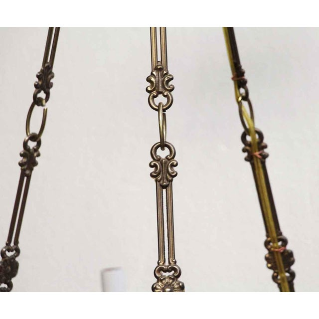 Empire Style 6 Arm Brass Chandelier With Black Finish - From the Waldorf Astoria For Sale - Image 4 of 12