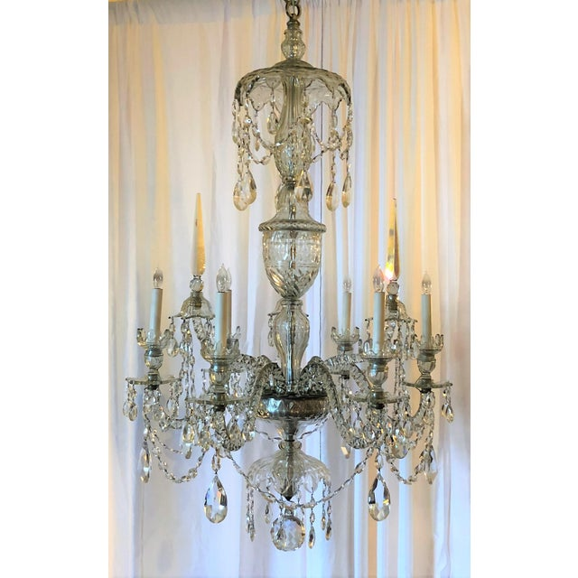 Antique Superb Quality Waterford Lead Crystal Chandelier, Circa 1880-1900.
