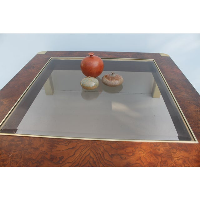 Century Furniture Burl & Brass Coffee Table - Image 7 of 10