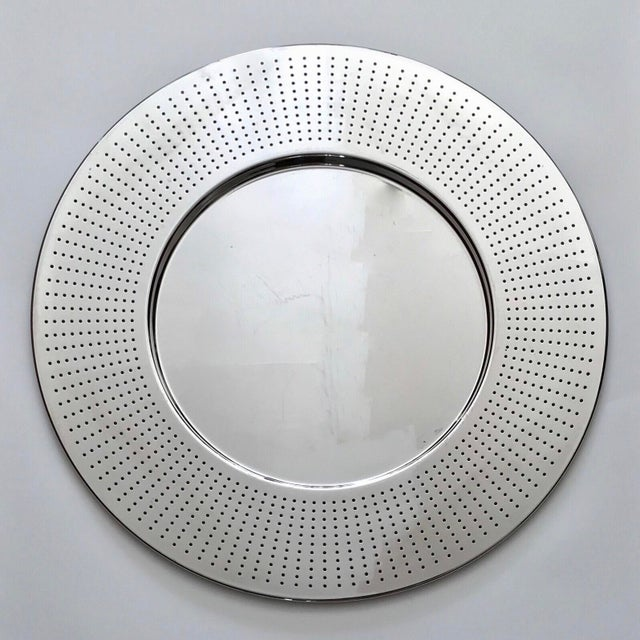 Alessi Round Polished Stainless Steel Tray For Sale - Image 12 of 12