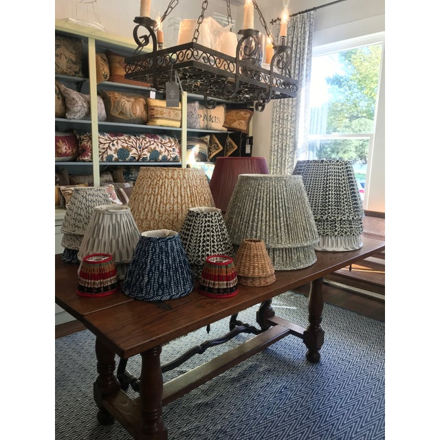 2010s Custom Maison Maison Gathered Lampshades - a Pair For Sale - Image 5 of 6