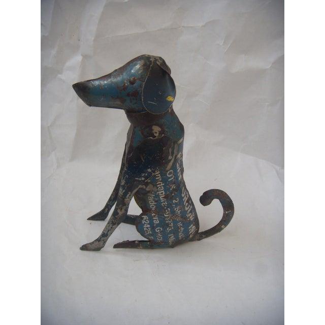 Reclaimed Steel Dog Sculpture - Image 3 of 5