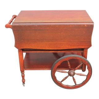 Mid-Century Rosewood Tea Cart For Sale