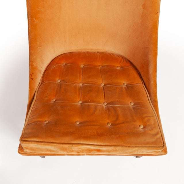 "Vintage Original Lawrence Peabody ""Slipper Chair"" for Richardsons / Nemschoff — Pair For Sale - Image 9 of 12"