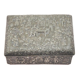 Repousse Silver Plate Box by Barbour S.P. International For Sale