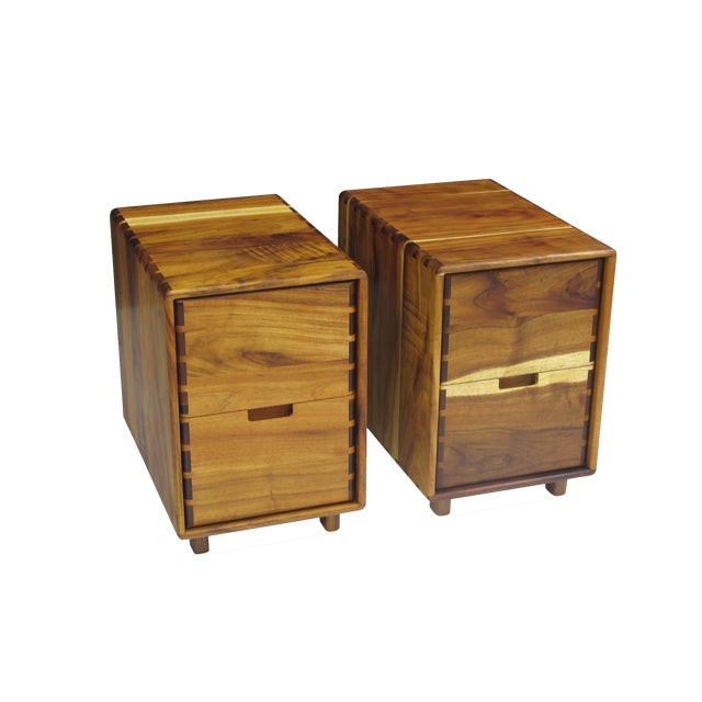 Jim Sweeney Koa Filing Cabinets - a Pair For Sale - Image 11 of 11