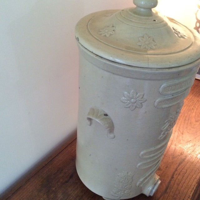 French Country English Ceramic Water Purifier Circa 1880s For Sale - Image 3 of 7