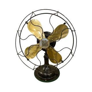Restored Antique Robbins & Meyers Desk Fan For Sale