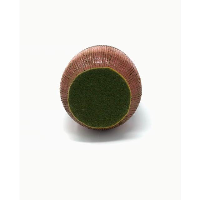 Mid-Century Modern Orange Red Ceramic Vase For Sale In Minneapolis - Image 6 of 7