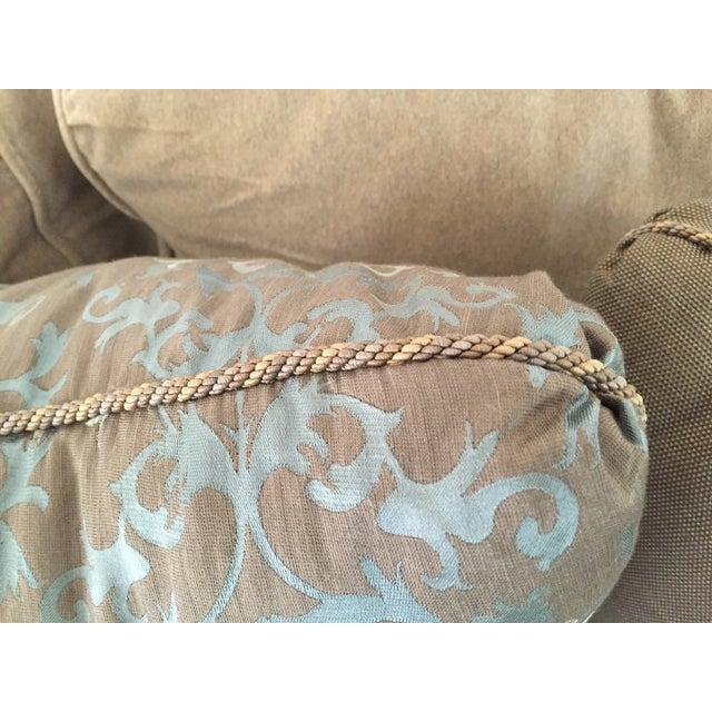 Baker Furniture Company Baker Silk Jacquard Pillows - Set of 3 For Sale - Image 4 of 6
