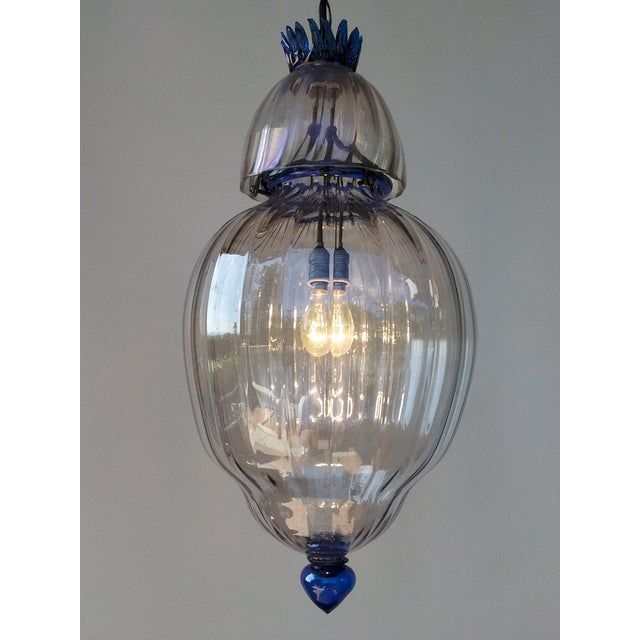 "A large very rare exquisite Art Deco Murano Lantern Size 12"" diameter/ height without chain 24""/ height including chain..."