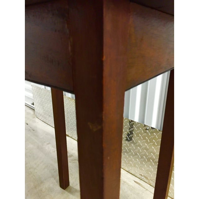 Brown Antique Lift-Top Side Table For Sale - Image 8 of 8