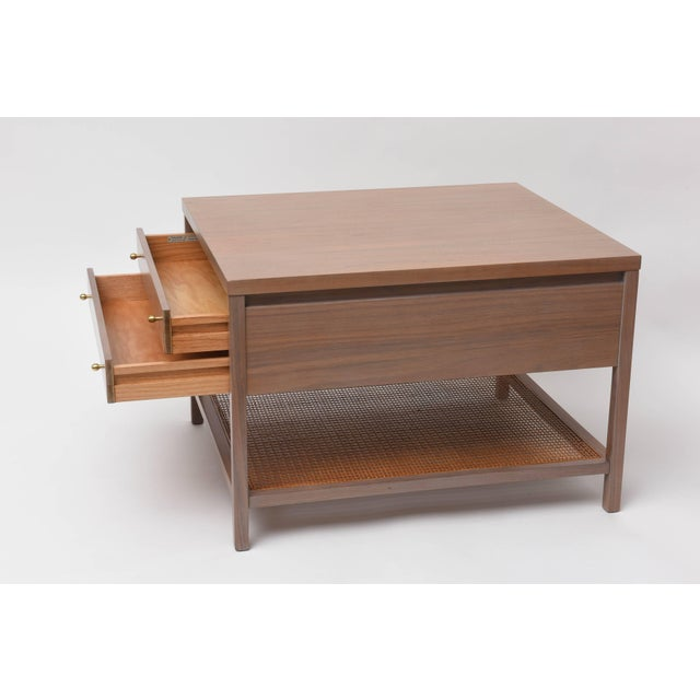Greige Walnut Side Table by Paul McCobb for Calvin For Sale In Miami - Image 6 of 11