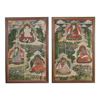 Pair of Sino-Tibetan Framed Paintings