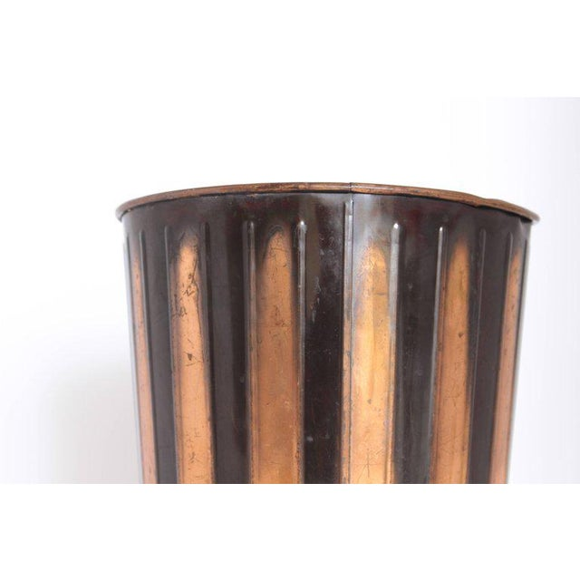 Copper Machine Age Art Deco Industrial Arts Waste Receptacle by Erie Art Metal For Sale - Image 7 of 11