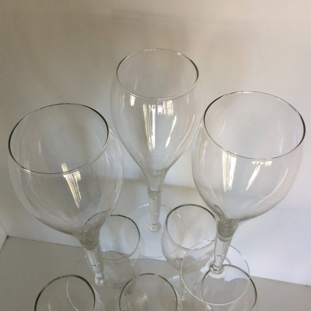 Crisa Hand Blown Crystal Tulip Style Champagne Glasses - Set of 8 For Sale - Image 10 of 13