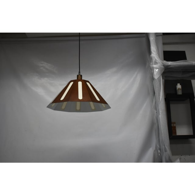 "Steel sheet metal and hand made Japanese washi paper. 5""ceiling canopy, all installation hardware, Edison style bulb..."