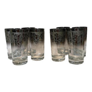 Dorothy Thorpe Embossed Ombré Glasses - Set of 8 For Sale
