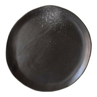"Contemporary Handmade Black ""Splatter"" Lunch/Dessert Plate by FisheyeCeramics For Sale"