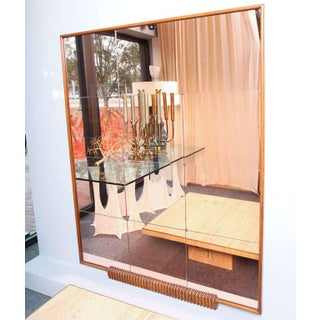 A Grand Italian Wall Mirror w/ Attached Sconce For Sale