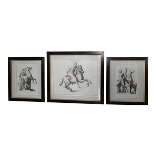 Antique French Classical Engravings - Set of 3