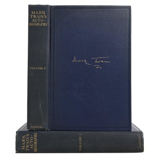 "1924 ""Mark Twain's Autobiography 2 Vols."" Collectible Book For Sale"