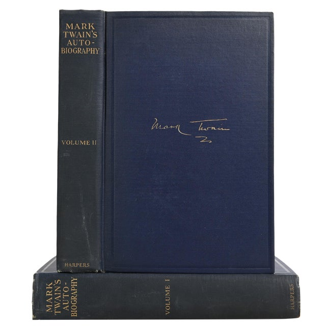 """1924 """"Mark Twain's Autobiography 2 Vols."""" Collectible Book For Sale"""