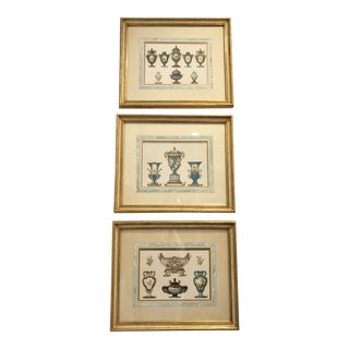 19th Century Antique John C. Nimmo Sevres Chromolithographs - Set of 3 For Sale