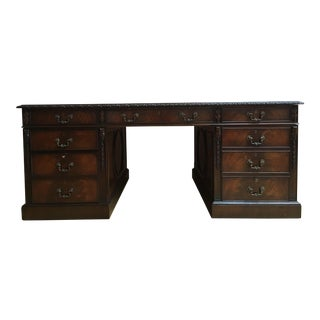 Wood & Hogan Mahogany Desk For Sale